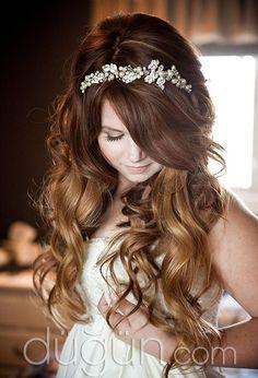 Uzun Gelin Saçı Modelleri - Gelin Saçı Modelleri