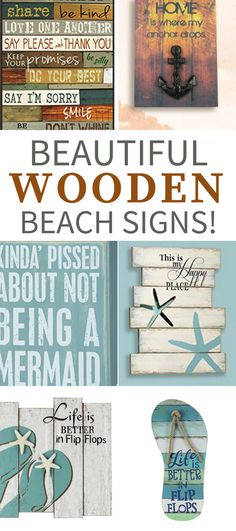 Wooden Beach Signs! Discover the best wooden beach signs for your beach home wood wall decor.