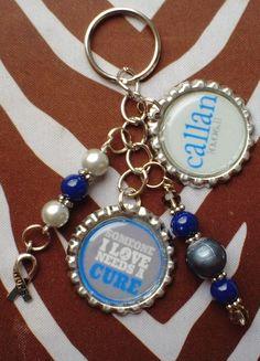 Customizable Type 1 Diabetes keychain  Someone I by CallansHope, $12.00