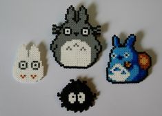 Totoro hama beads by  ArtesanDroides