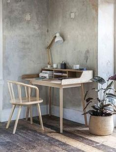 Ash Wood Desk by Idyll Home, the perfect gift for Explore more unique gifts in our curated marketplace. Space Saving Desk, Desk Space, Ideas Prácticas, Desk Areas, Wooden Desk, Desk Storage, Home Office Desks, Writing Desk, New Furniture