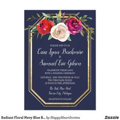 Shop Radiant Floral Navy Blue Burgundy Bridal Shower Invitation created by HappyHeartInvites. Personalize it with photos & text or purchase as is! Burgundy Wedding Invitations, Photo Wedding Invitations, Rehearsal Dinner Invitations, Brunch Invitations, Zazzle Invitations, Burgundy Baby Shower, Couples Shower Invitations, Floral Baby Shower, Shower Baby