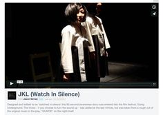 """Designed and edited to be 'watched in silence' this 90 second awareness-docu was entered into the film festival, Going Underground.  The music - if you choose to turn the sound up - was added at the last minute, but was taken from a rough cut of the original music in the play, """"GUMOK"""" on the night itself.  Going Underground is a film festival linking Seoul and Berlin together & their subways, along with film-makers from across the world.  Winning entries have the opportunity to have their…"""