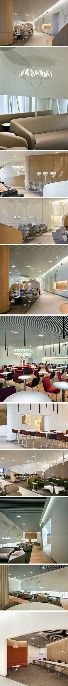 Business Lounge d'Air France par Noé Duchaufour-Lawrance et Brandimage: