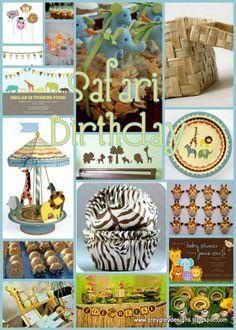 safari baby shower ideas for boys | GreyGrey Designs: Pastel Jungle or Safari Party Inspiration