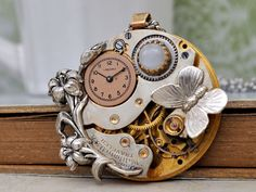 steampunk+jewelry++LOVE+TAKES+TIME++steampunk+by+junesnight,+$116.50