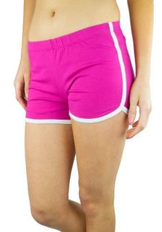 pretty nice 44753 76445 cool Retro Inspired Cotton Spandex Casual  Running  Short (Juniors Small,  Fuchsia)
