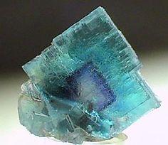 Blue Fluorite with Violet Phantom