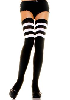 Best seller for #rollerderbysocks we love #rollerderby :)  http://dressderby.com/shop/best-sellers/thigh-high-athletic-socks-with-3-stripe-top-black/