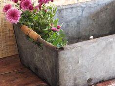 Vintage Galvanized Bin Crate Industrial by TreasuredPrimitives