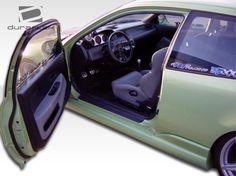 1992-1995 Honda Civic HB Duraflex Bomber Side Skirts Rocker Panels - 2PC
