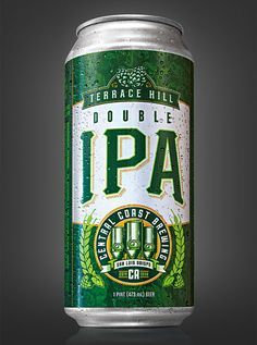 Central Coast Brewing's Double IPA can created by Guru Design.