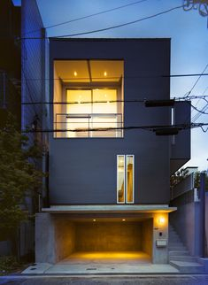House in Konan / Coo Planning. The shape of the Townhouse itself is pure art. Contemporary dwelling to be appreciated.