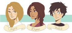 by cookiekhaleesi:   some of the lovely ladies of the pjo wooorld