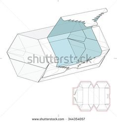 Hexagonal Tear Off Tube Retail Box with Die Cut Template