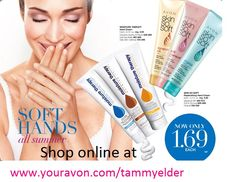 Avon Products...  For Your Hands!!!  Shop My Online Avon Store.