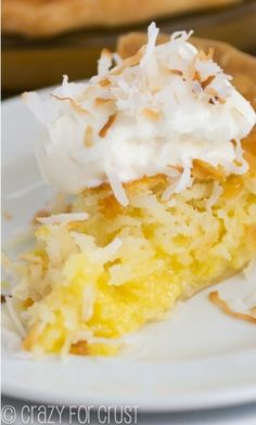 Coconut Chess Pie.  Super sweet.  Really needs to have whipped cream or ice cream. KB.  $$$.