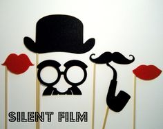 Silent Film Photo Booth Props