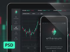 Download PSD on the following page: https://www.behance.net/gallery/44830615/Ethereum-Dashboard-App-UI-FREE-PSD