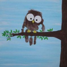 Handprint Owl(owl always love you)
