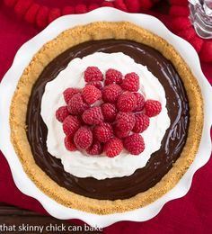 Chocolate Satin Pie | perfect dessert for the holidays or any day! | http://thatskinnychickcanbake.com