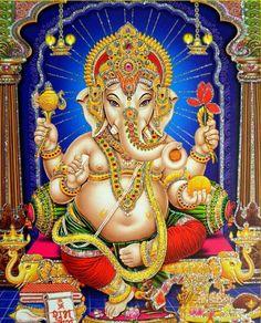 Shri Ganesh, Lord Ganesha, Hanuman, Avatar Poster, Baby Ganesha, Lord Shiva Family, Shiva Art, Goddess Lakshmi, Lord Vishnu