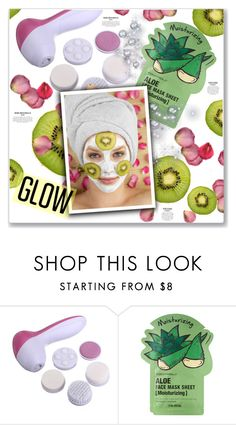 """Get Your Glow On: Face Masks"" by kellylynne68 ❤ liked on Polyvore featuring beauty and Tony Moly"