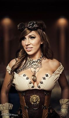 I love when babes Rock steampunk outfits! It's just so sexy! #steampunkfashion,