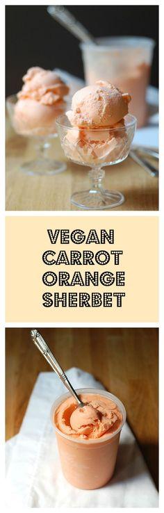 Carrot Orange Sherbet #vegan