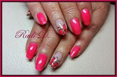 It`s all about nails: Coral holo gel polish with butterflies http://radi-d.blogspot.com/2015/03/coral-holo-gel-polish-with-butterflies.html