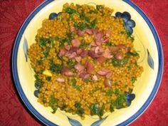 Couscous and Kale - A terrific blend of Mediterranean flavors topped with a garnish of Kalamata olives make this a great side dish or main entree. Very tasty with a lot of fiber and protein. Kalamata Olives, Recipe Sites, Mediterranean Style, Couscous Ideas, Us Foods, Kale, Entrees, Side Dishes, Vegan Recipes