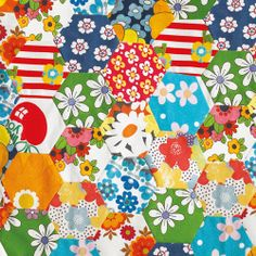 5 Sheets Of Floral Quilt Wrapping Paper - Price £6.95 Available 30/01/14 http://www.dotcomgiftshop.com/floral-quilt-gift-wrap
