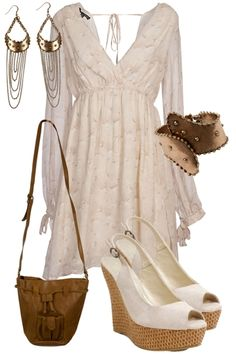 A very pretty outfit...minus the earrings for me!