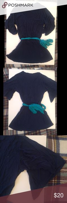 Blue Charming Charlie dress/ tunic size small Blue Charming Charlie dress/ tunic size small, would look great with leggings! Charming Charlie Dresses Mini