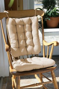A Rocking Chair With These Cotton Duck Chair Pads W/ Resilient Latex Foam  Will Never Flattenu2014Guaranteed