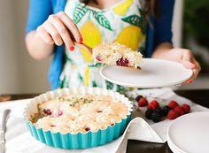 30-Minute Almond Berry Buttermilk Cake