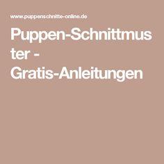 Puppen-Schnittmuster - Gratis-Anleitungen