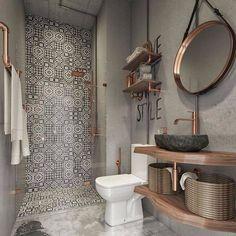 Modern Farmhouse Bathroom Decor Ideas - Page 30 of 70 - ProHouse. Bathroom Design Small, Bathroom Interior Design, Bathroom Ideas, Basement Bathroom, Bathroom Designs, Bathroom Remodeling, Bathroom Inspo, Diy Interior, Master Bathroom