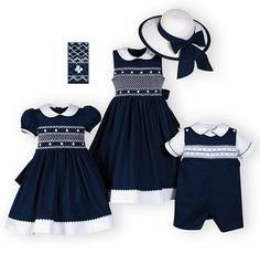 Navy and White Classics Brother-Sister Outfits from Wooden Soldier