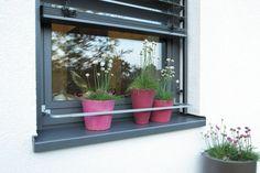 Mit dem Blumenkastenhalter gibst du deinen Blumen und Kräuter auf der Fensterbank einen sicheren Halt un schützt sie vor dem Herunterfallen. Der Blumenkastenhalter kann ohne Bohren am Fenster befestigt werden!