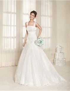 Tyll Elegant & Lyxig Applikation Bröllopsklänningar 2015