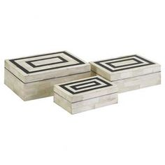 As seen on HGTV's Flipping the Block, Episode 5 – The Guest Room: 3-Piece Isabella Bone Trinket Box Set