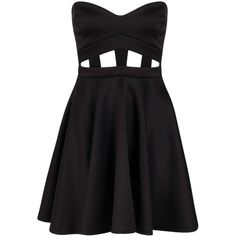 Boohoo Penny Bandeau Skater Dress (100 VEF) ❤ liked on Polyvore featuring dresses, vestidos, bodycon party dresses, nude dress, sequin cocktail dresses, skater dress and bodycon maxi dress