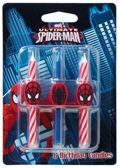 DecoPac Spider-Man Candles - Box = 6