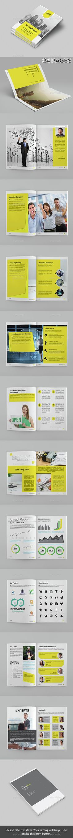 24 Pages Modern Company Profile Brochure Template InDesign INDD. Download here: http://graphicriver.net/item/modern-company-profile-brochure/15226865?ref=ksioks