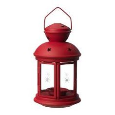 ROTERA lanterna p/vela, verm Altura: 21 cm                                                                                                                                                                                 Mais