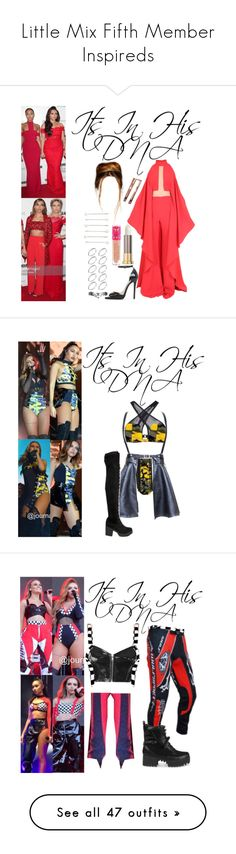 """Little Mix Fifth Member Inspireds"" by katiehorror ❤ liked on Polyvore featuring Balmain, Public Desire, ASOS, Urban Decay, Jeffree Star, Truffle, Topshop, Dr. Martens, Sacred Hawk and Kiki Minchin"