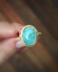 Tuesdays, I often feel firey. It's no longer Monday but Friday seems a long way off. Time to get the fires burning to power through. You know what that calls for? This vintage 14kt gold fiery opal ring. | vintage | antique | jewelry |Old Is The New New | Katie Callahan & Co.