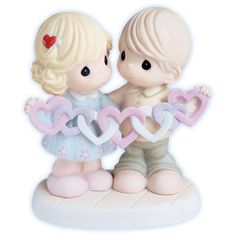 Precious Moments figurines | Precious Moments Love Figurine - Our Hearts Are Intertwined With Love
