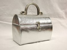 Vintage Arnold Scaasi For Meyers Silver Bag Rhinestone by COBAYLEY, #etsy #vintage #handbags